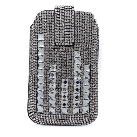 UCCP-0102-SMOKE - WHOLESALE RHINESTONE CRYSTAL CELLPHONE CASES/POUCHES