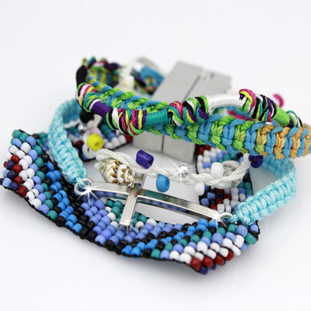 BOHO-100148 - WHOLESALE CROSS STRETCH BRACELETS