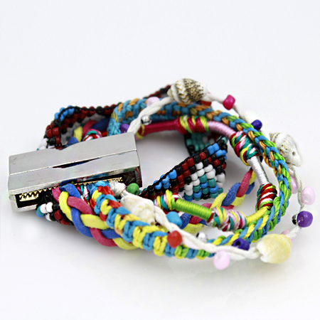 BOHO-100153 - WHOLESALE CROSS STRETCH BRACELETS