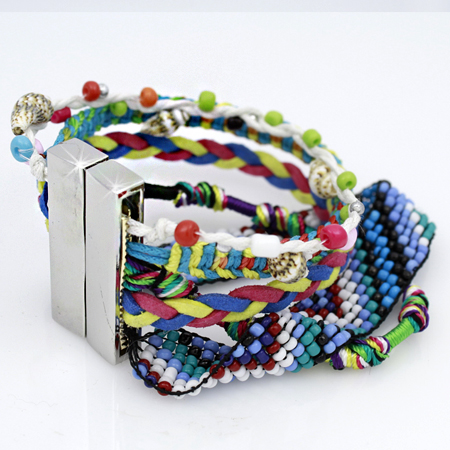 BOHO-100155 - WHOLESALE CROSS STRETCH BRACELETS