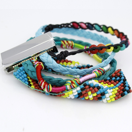 BOHO-100156 - WHOLESALE CROSS STRETCH BRACELETS