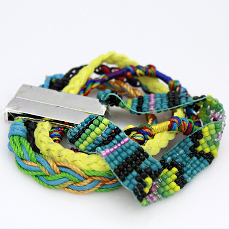 BOHO-100157 - WHOLESALE CROSS STRETCH BRACELETS