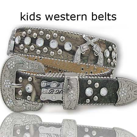 1017--CAMO - BHW BRAND CHILDRENS WESTERN BELTS