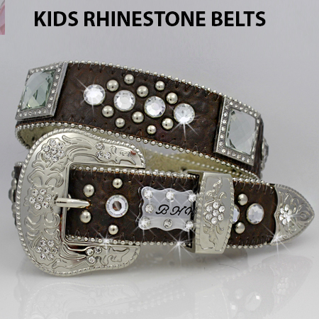 1147--BROWN - BHW BRAND KIDS WESTERN BELTS