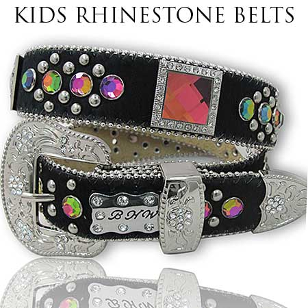 HIDE-1147-BK/VOL - BHW BRAND KIDS WESTERN BELTS