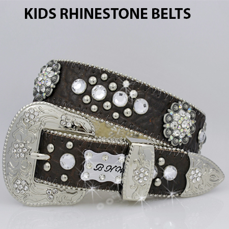 1148-BROWN-CL - BHW BRAND KIDS WESTERN BELTS