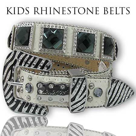 ZBBKLE-1149-BONE-BK - BHW BRAND KIDS WESTERN BELTS