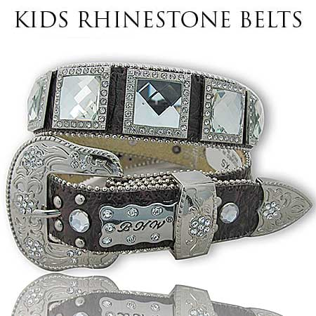 1150-BROWN-CLEAR - BHW BRAND KIDS WESTERN BELTS
