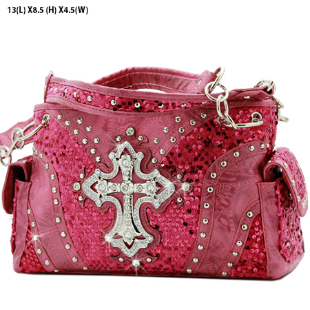 CROSS-133-8104-HTPK - WHOLESALE WESTERN CROSS SEQUIN HANDBAG
