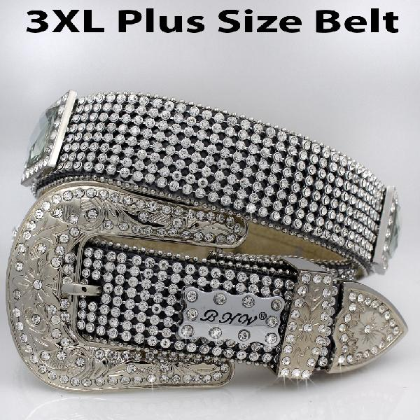 3XL-1363-BLACK - WHOLESALE PLUS SIZES WESTERN BELTS