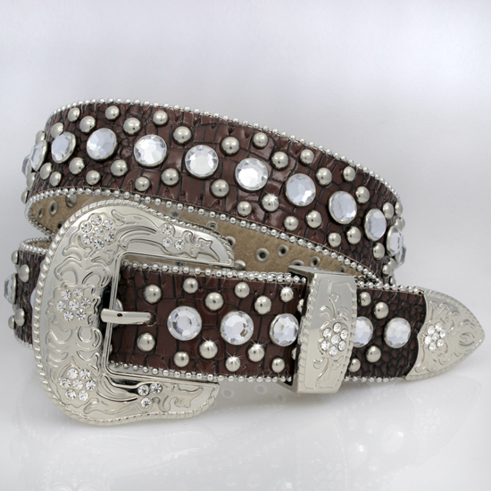 1369-BROWN - BHW BRAND KIDS WESTERN BELTS