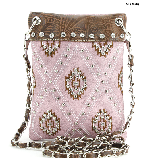 2030-SW-PINK - WHOLESALE RHINESTONE CRYSTAL CELLPHONE CASES/POUCHES