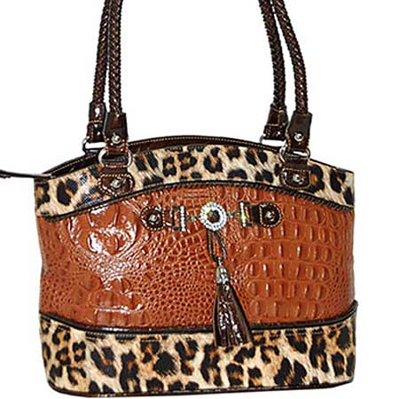 3021-PECAN - WHOLESALE ALL GENUINE DESIGNER LEATHER HANDBAGS