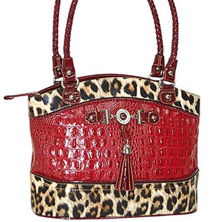 3021-RED - WHOLESALE ALL GENUINE DESIGNER LEATHER HANDBAGS