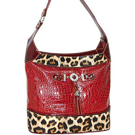 3022-RED - WHOLESALE ALL GENUINE DESIGNER LEATHER HANDBAGS
