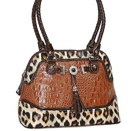 3023-PECAN - WHOLESALE ALL GENUINE DESIGNER LEATHER HANDBAGS