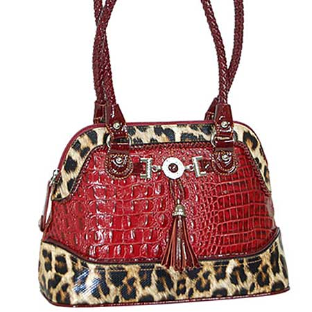 3023-RED - WHOLESALE ALL GENUINE DESIGNER LEATHER HANDBAGS