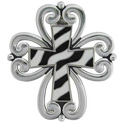 PNDT/378-ZEBRA - WHOLESALE WESTERN CROSS PENDANT