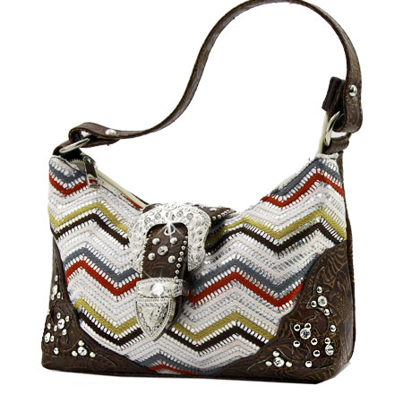 52-W10-Z168-BEIGE - KIDS RHINESTONE BUCKLE HANDBAGS