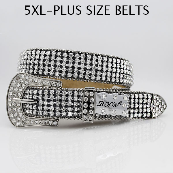 5XL-1279-BLACK - WHOLESALE PLUS SIZES WESTERN BELTS