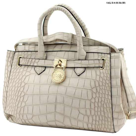 61653-BEIGE - NEW DESIGNER INSPIRED RUNWAY PURSES