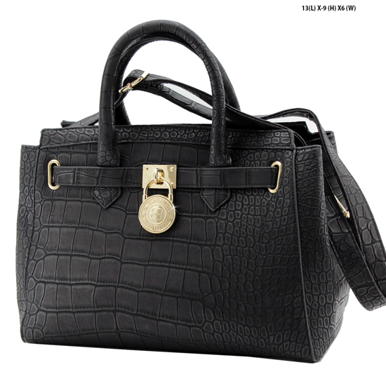 61653-BLACK - NEW DESIGNER INSPIRED RUNWAY PURSES