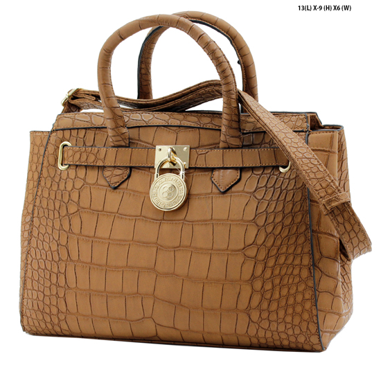 61653-BROWN - NEW DESIGNER INSPIRED RUNWAY PURSES
