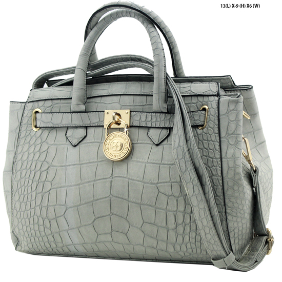 61653-LTGREY - NEW DESIGNER INSPIRED RUNWAY PURSES