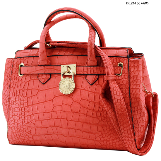 61653-RED - NEW DESIGNER INSPIRED RUNWAY PURSES