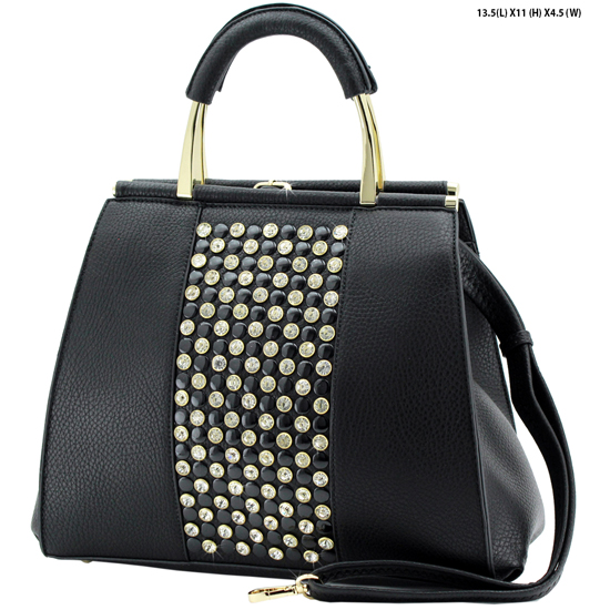 61723-BLACK - NEW DESIGNER INSPIRED RUNWAY PURSES