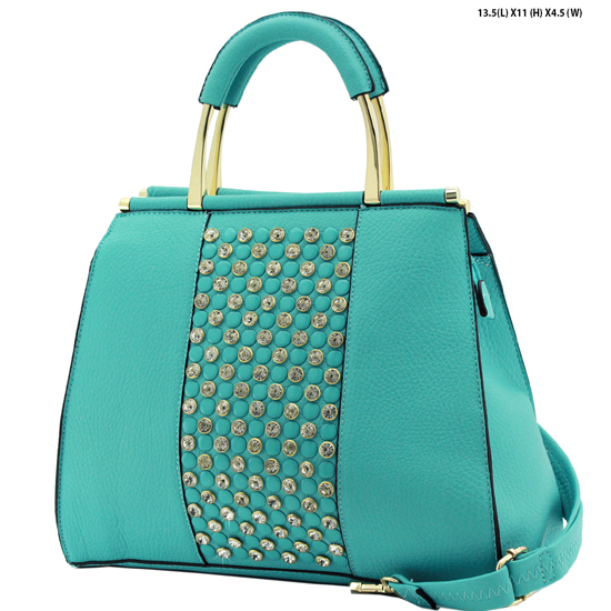 61723-teal - NEW DESIGNER INSPIRED RUNWAY PURSES