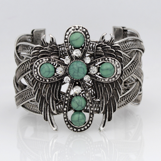 CROSS WINGS CUFF BRACELETS - WHOLESALE CROSS WINGS WESTERN CUFF BRACELETS