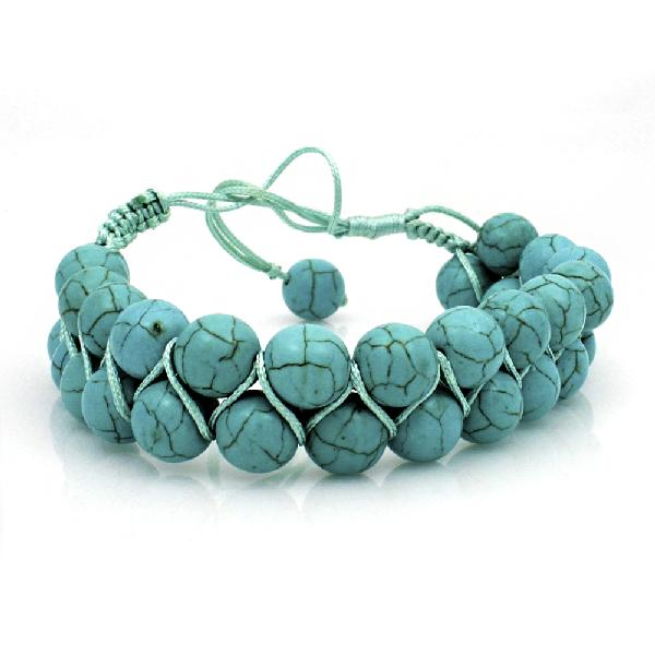 TURQUOISE STONE CROSS BRACELETS - WHOLESALE WESTERN TURQUOISE CROSS ADJUSTABLE BRACELETS