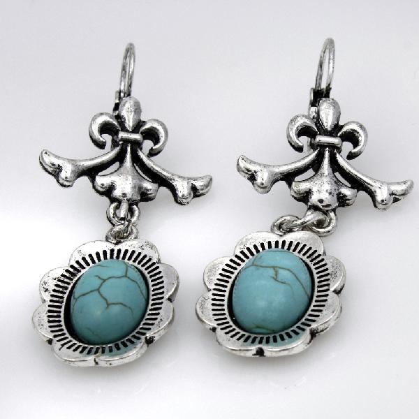 EARRINGS-72005 - WHOLESALE TURQ EARINGS