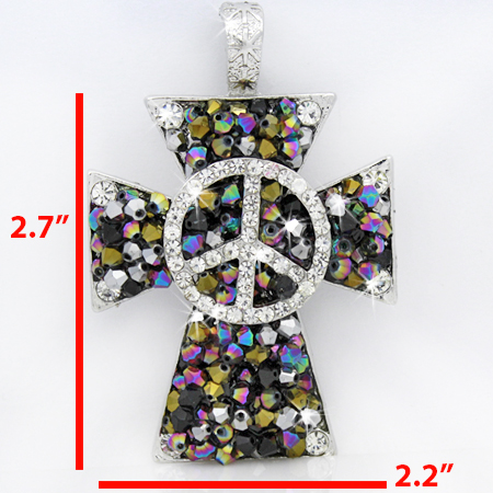 PNDT-74025-MULTI - MAGNETIC CROSS PENDANT