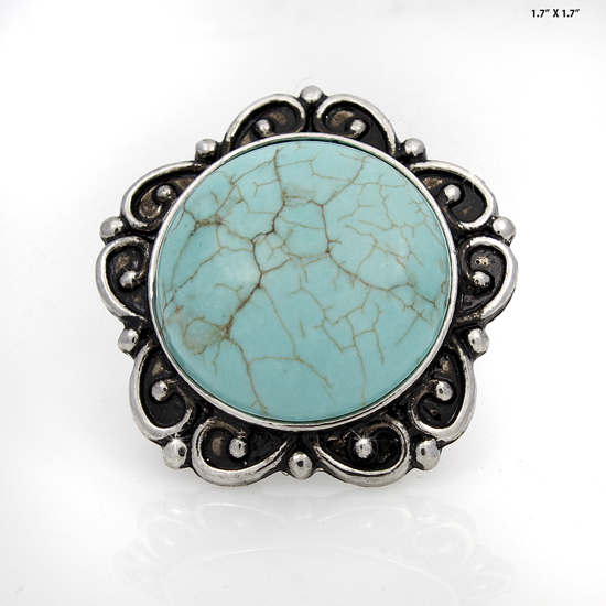 RING-75008 - WHOLESALE WESTERN TURQUOISE STRETCH RING