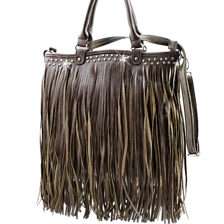 963F--BROWN - WHOLESALE DESIGNER INSPIRED HANDBAGS