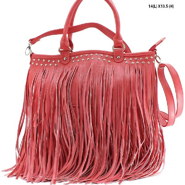963F--PEACH - WHOLESALE DESIGNER INSPIRED HANDBAGS