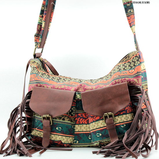 ANQ-61462-RB1 - NEW DESIGNER INSPIRED BOHEMIAN CHIC PURSES
