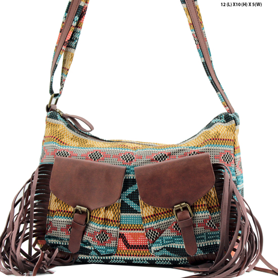 ANQ-61462-RB2 - NEW DESIGNER INSPIRED BOHEMIAN CHIC PURSES