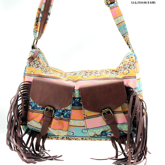 ANQ-61462-RB3 - NEW DESIGNER INSPIRED BOHEMIAN CHIC PURSES