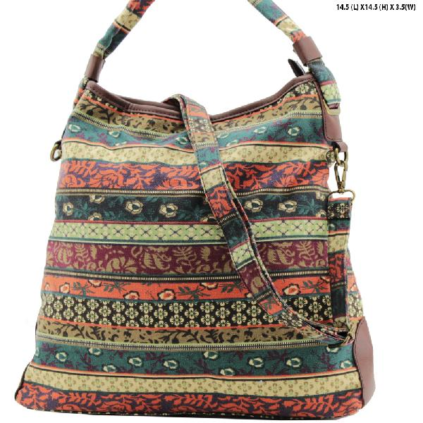 ANQ-61465-RB1 - NEW DESIGNER INSPIRED BOHEMIAN CHIC PURSES