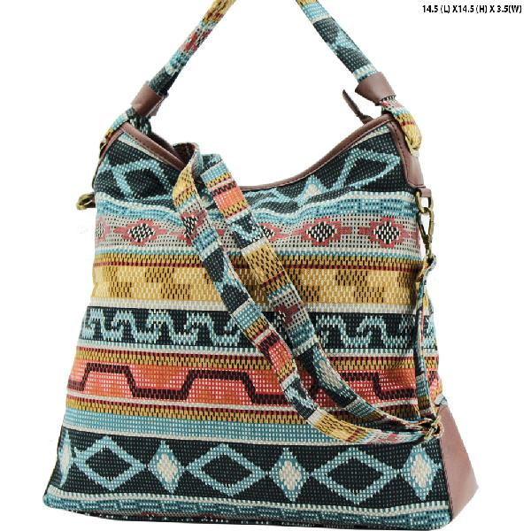 ANQ-61465-RB2 - NEW DESIGNER INSPIRED BOHEMIAN CHIC PURSES