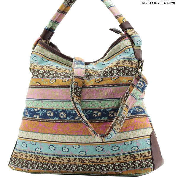 ANQ-61465-RB3 - NEW DESIGNER INSPIRED BOHEMIAN CHIC PURSES
