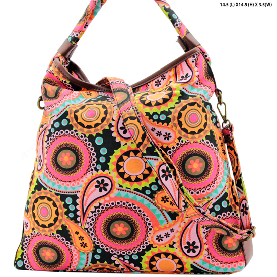 ANQ-61465-RB6 - NEW DESIGNER INSPIRED BOHEMIAN CHIC PURSES