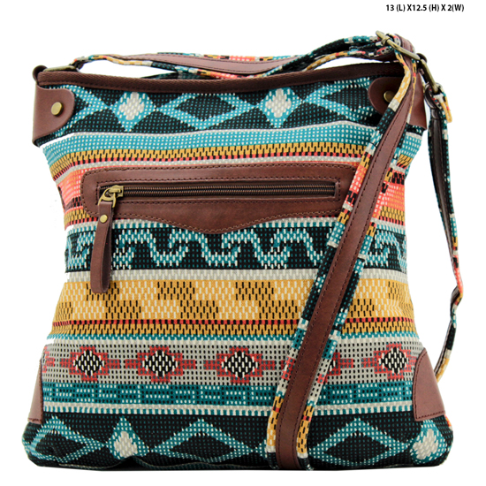 ANQ-61466-RB2 - NEW DESIGNER INSPIRED BOHEMIAN CHIC PURSES