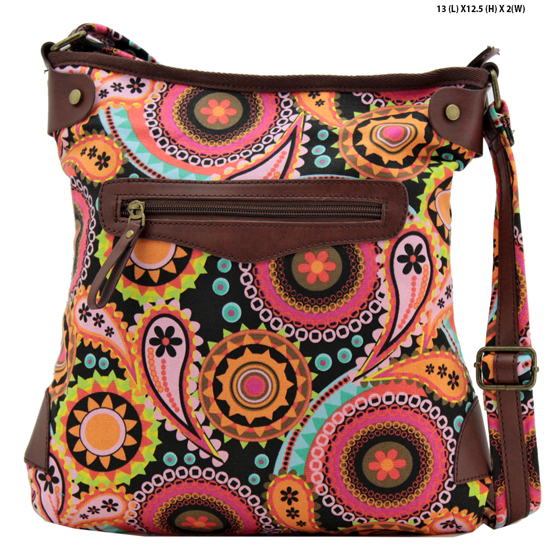 ANQ-61466-RB6 - NEW DESIGNER INSPIRED BOHEMIAN CHIC PURSES