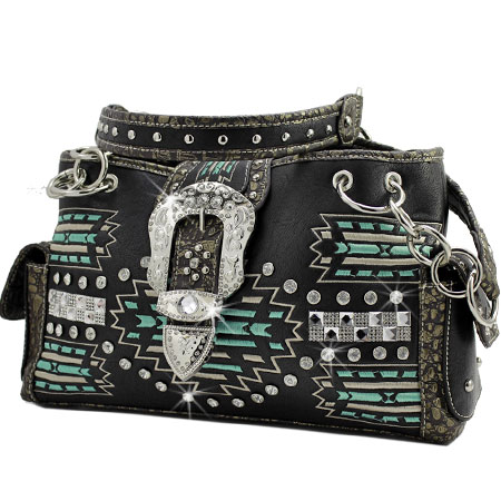 AZT-893-BLACK - WHOLESALE WESTERN PURSES