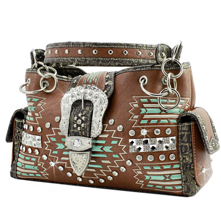 AZT-893-BROWN - WHOLESALE WESTERN PURSES