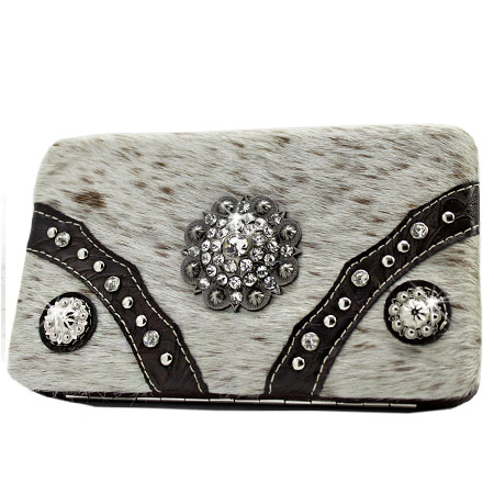 HIDE-090H-NATURAL - WHOLESALE FLAT WALLETS/OPERA STYLE METAL FRAME
